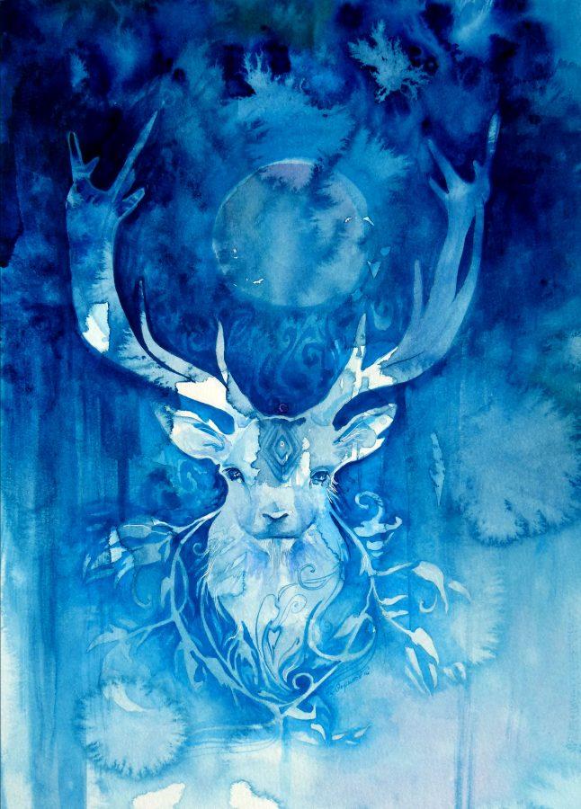 Spirit animal watercolor painting