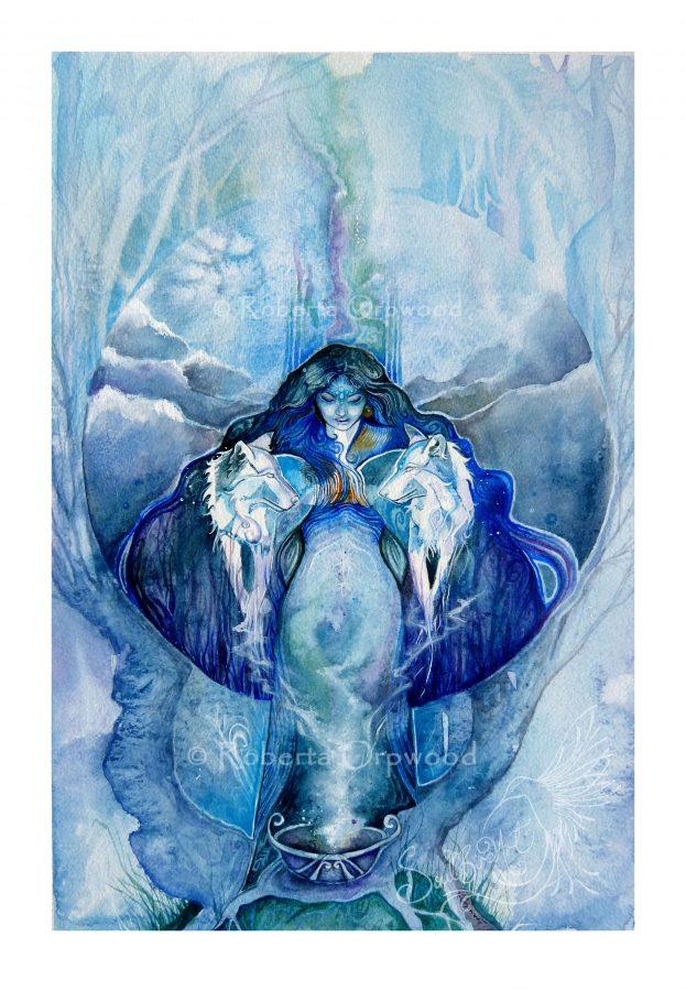 Wolf Goddess Art