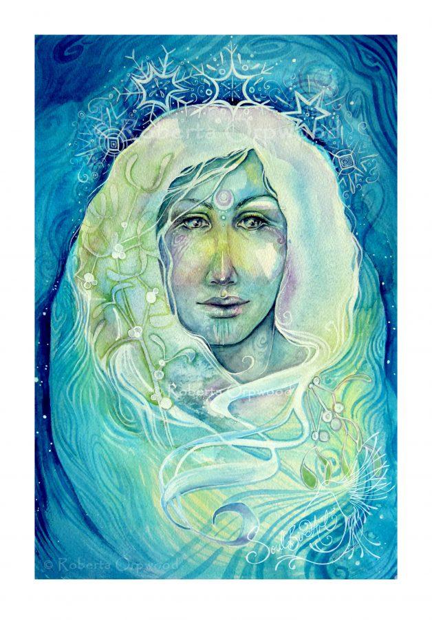 Snow queen watercolor