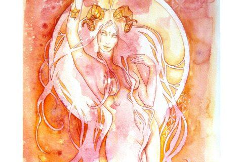Zodiac Aries Goddess Art