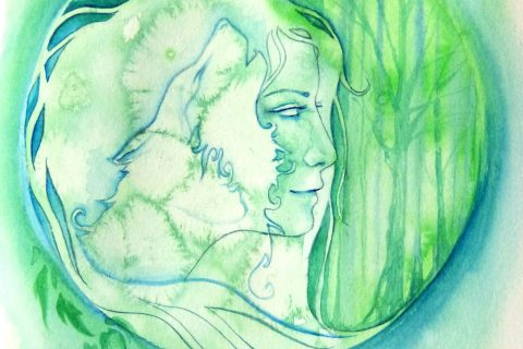 'Woodland Spirit Wolf'